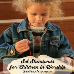 Set the standard, training up in worship. | Great Peace Academy