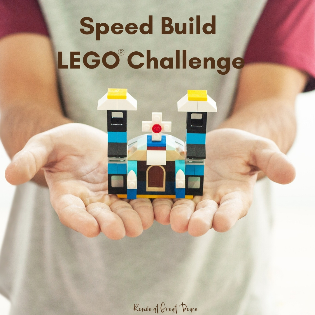 LEGO Challenge Builds for Families or Groups | Renee at Great Peace #LEGO #LEGOBricks #LEGOLearning #handsonlearning #education #schoolathome #homeschool #ihsnet