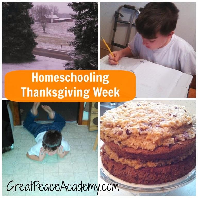 This Week: Schooling Around Thanksgiving