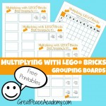 Teach multiplication easily with LEGO Multiplication Grouping Boards, Free Printables | Great Peace Academy