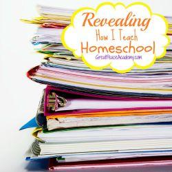 Revealing How I Teach Homeschool | Great Peace Academy