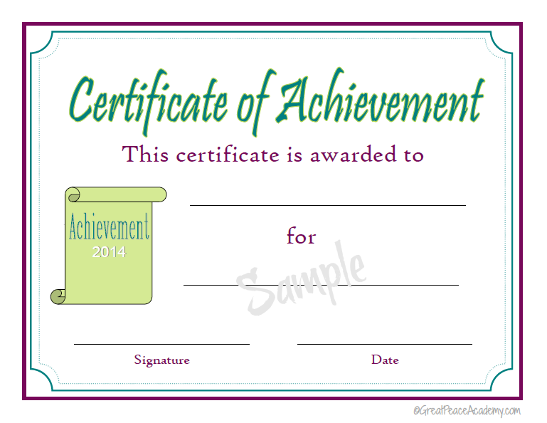 Homeschool Award Printable Certificates