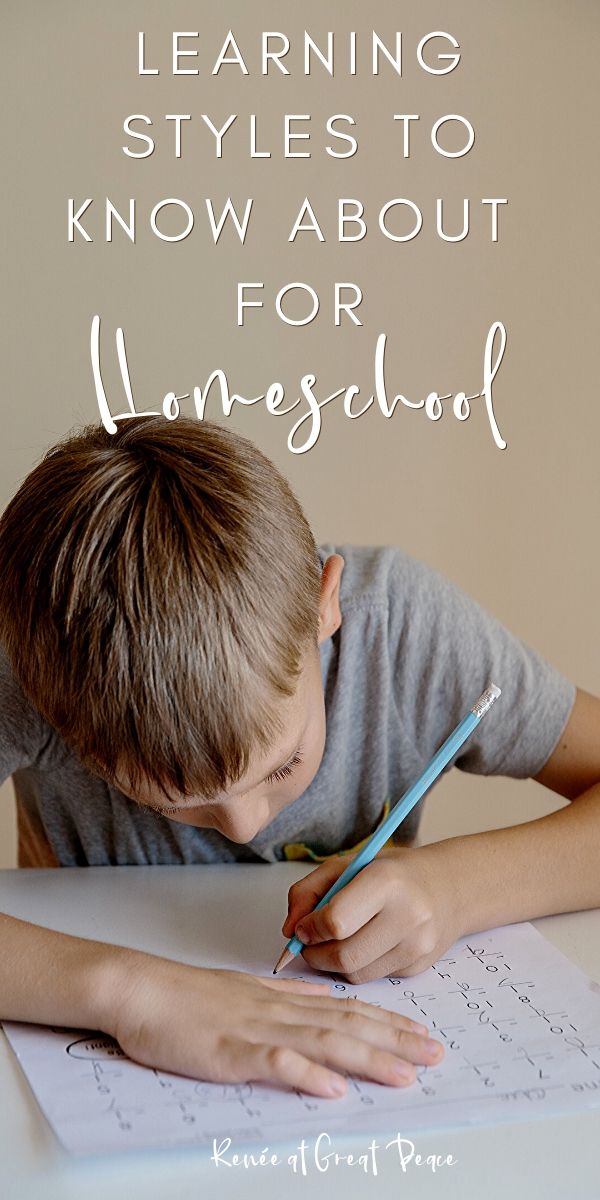 Learning Styles to Know About for Homeschool | Renee at Great Peace #homeschool #homeschooling #howtohomeschool #homeschoolmoms #learningstyles #education #ihsnet