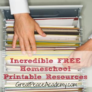 Incredible FREE Homeschool Printable Resources | GreatPeaceAcademy.com #homeschool