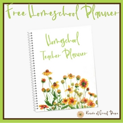 Free Simply Pretty Homeschool Planner | Renée at Great Peace