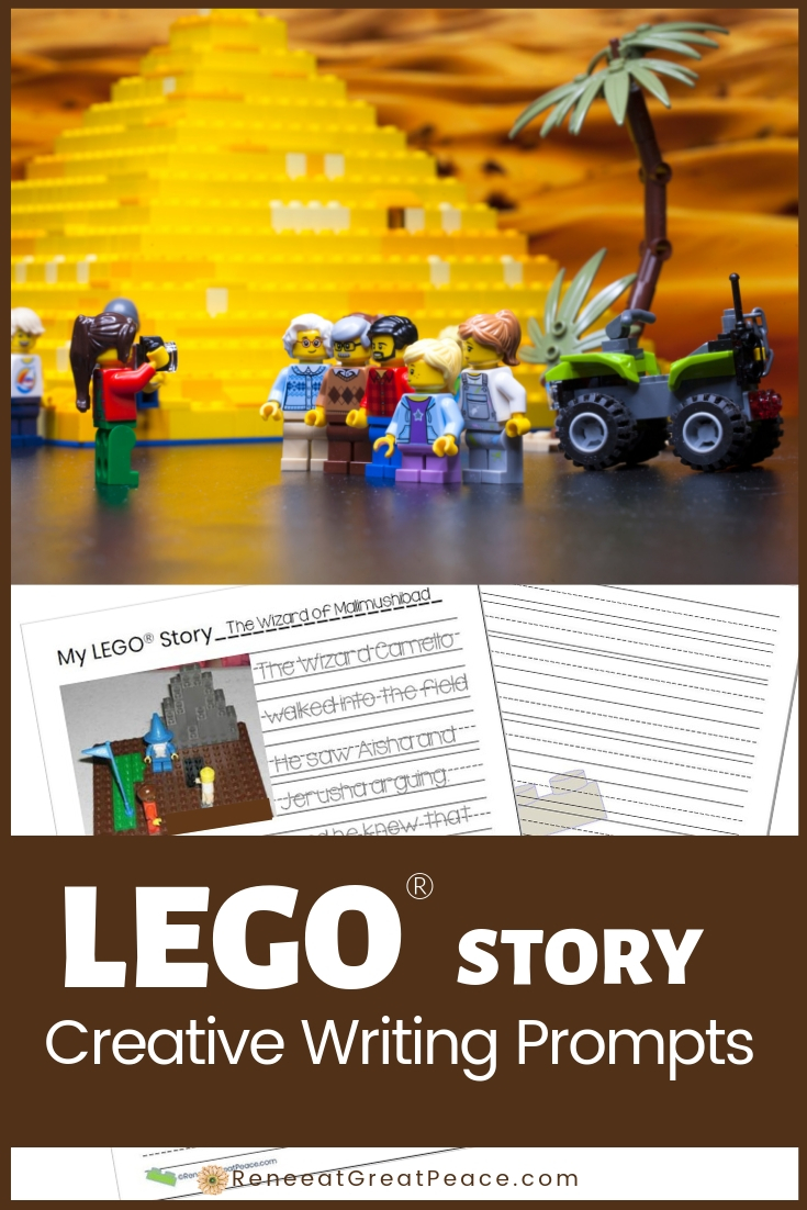 LEGO Story Creative Writing Prompts | Renee at Great Peace #LEGO #LEGOBricks #LearningwithLEGO #Creativewriting #homeschool #ihsnet