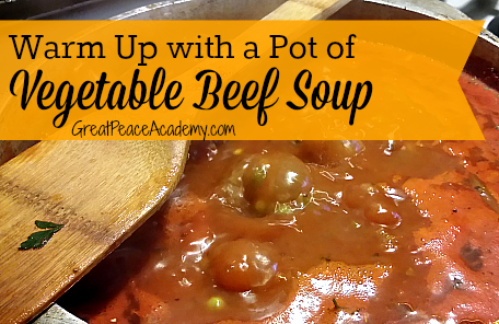 Warm Up with a Pot of Vegetable Beef Soup