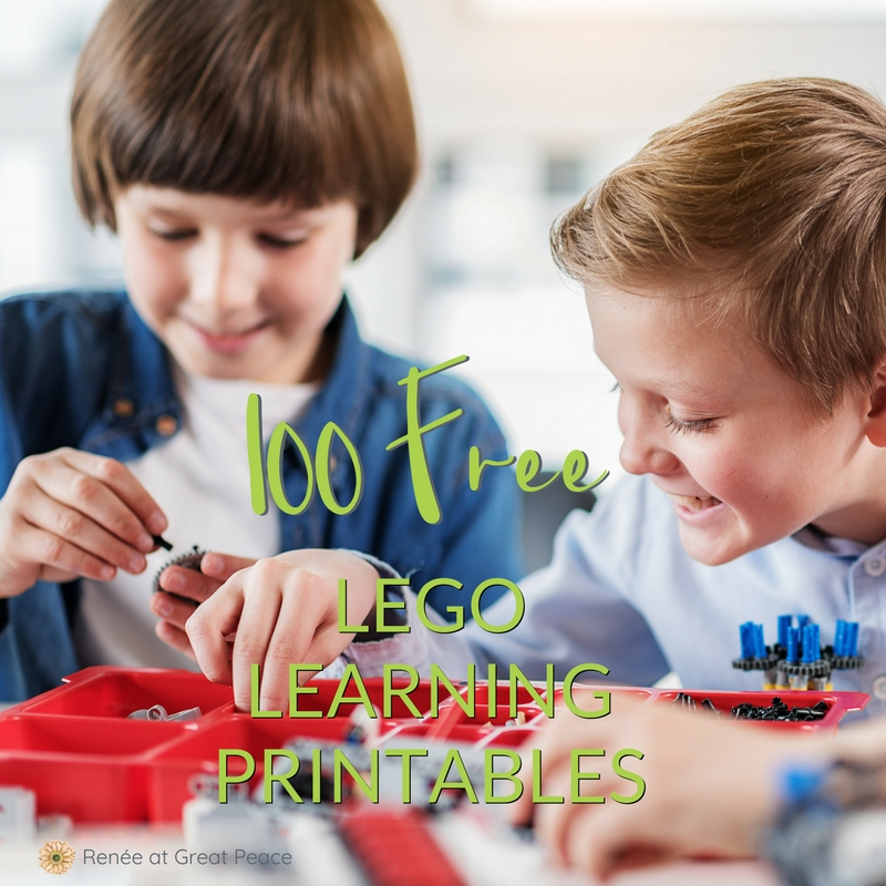 100 FREE LEGO Learning Printable Resources