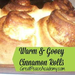 Homemade Cinnamon Rolls for Breakfast