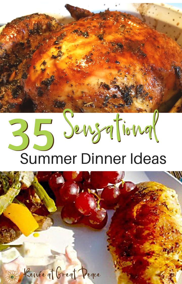 35 Sensational Summer Dinner Ideas | Renée at Great Peace #mealplanning #summerdinner #family