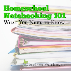 Homeschool Notebooking 101 | Great Peace Academy