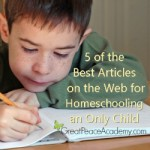 5 Best Articles on the Web for Homeschooling an Only Child