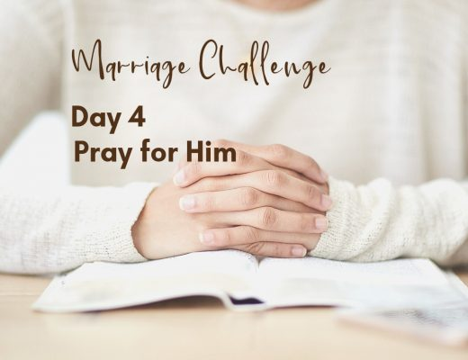 Marriage Challenge Day 5: Pray for Him | Renée at Great Peace #marriagechallenge #marriagemoments #wives #prayer