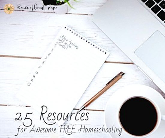 25 Resources for Awesome FREE Homeschooling | Renée at Great Peace #homeschool #curriculum #ihsnet