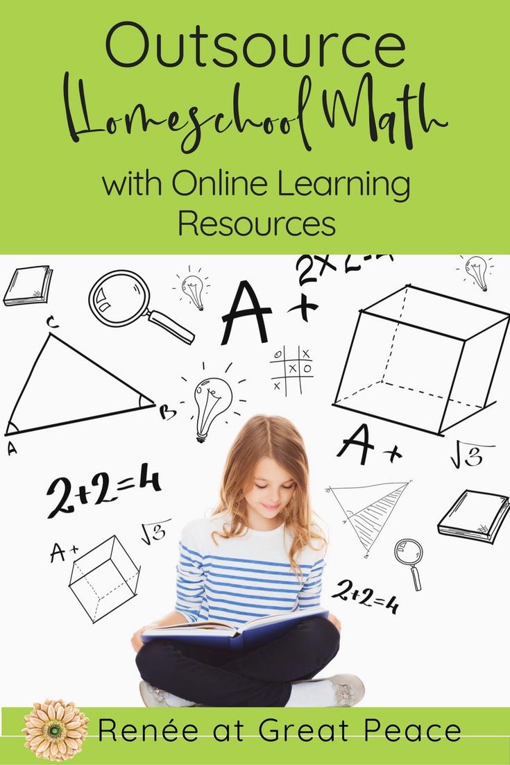 10 Resources for Outsourcing Homeschool Math Instruction | Renée at Great Peace #math #homeschooling #ihsnet