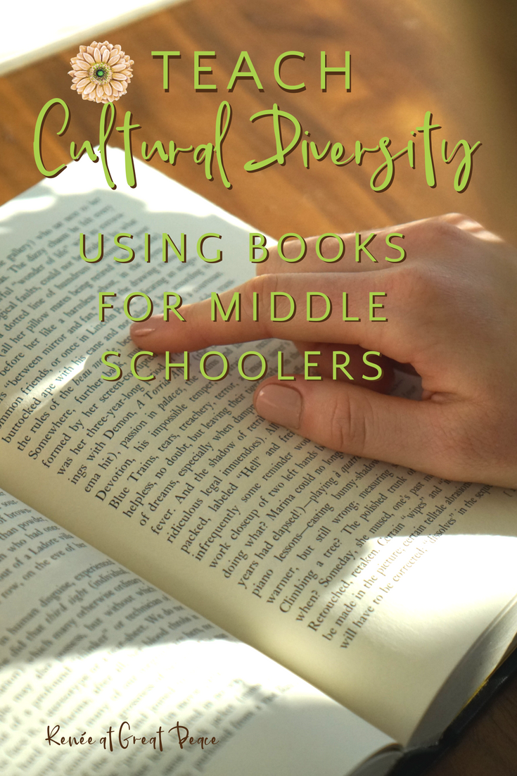 10 Cultural Diversity Books for Middle Schoolers | Renée at Great Peace #homeschool #culturaldiversity #ihsnet