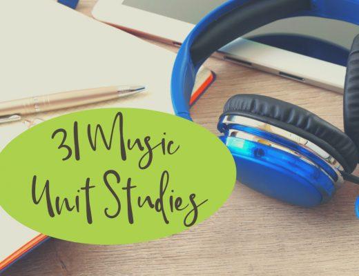31 Music Unit Studies for Teaching Music in Homeschool | Renée at Great Peace #musicappreciation #music #homeschool #ihsnet