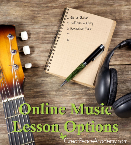 Learning to Play Music Online for Homeschool | Great Peace Academy #ihsnet #homeschool