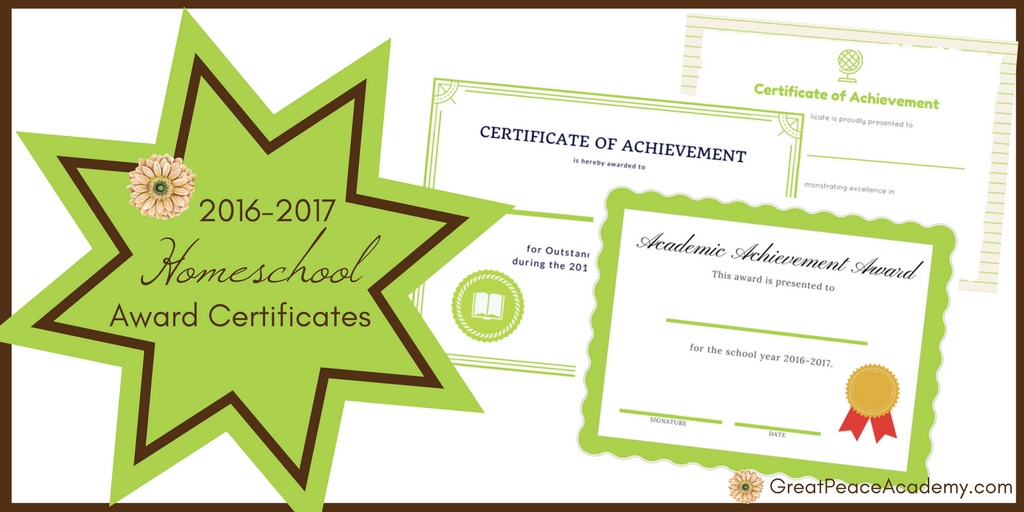 academic awards certificates