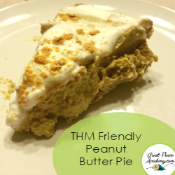 THM Friendly Peanut Butter Pie | Renée at GreatPeaceAcademy.com