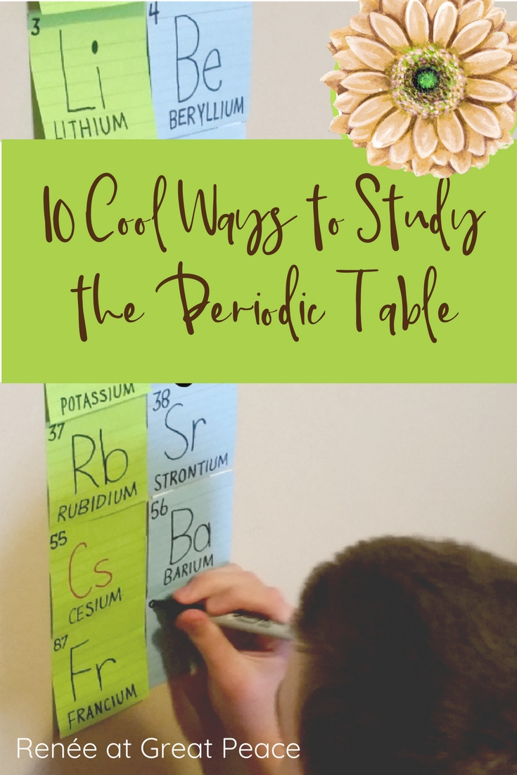 10 cool ways to study the periodic table in homeschool 10 cool ways to study the periodic table rene at great peace homeschool gamestrikefo Choice Image