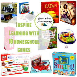 Inspire Learning with these 10 Homeschool Games   GreatPeaceAcademy.com #ihsnet