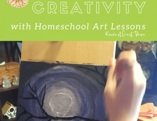 How to Spark Creativity with Homeschool Art Lessons | Renée at Great Peace #homeschool #art #artlessons #homeschoolart #ihsnet