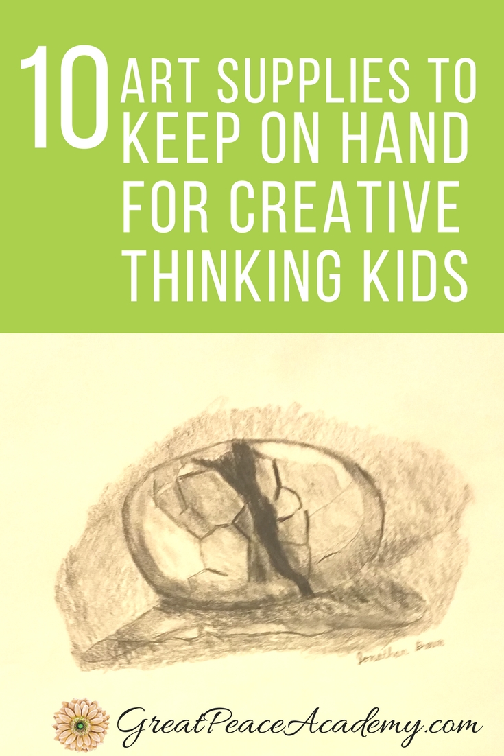 Art Supplies to Keep on Hand for Creative Thinking Kids | GreatPeaceAcademy.com #ihsnet #homeschool