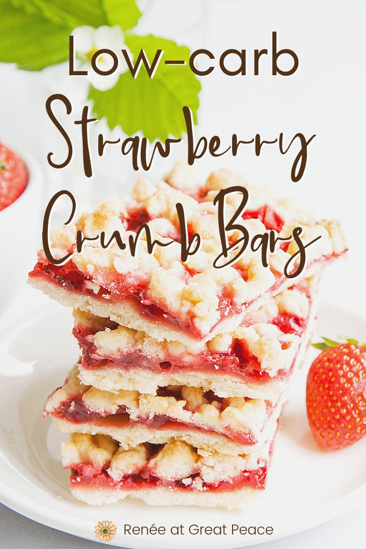 Low-Carb Strawberry Crumb Bars Recipe