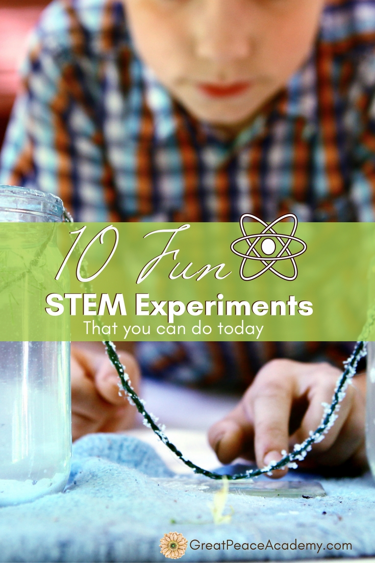 10 Fun STEM Experiments that You Can Do Today - Great Peace Academy