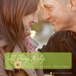 20 Things to Say for a Stronger Marriage