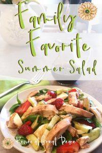 Summer Dinner Idea: Family Favorite Summer Salad | Renée at Great Peace #summerdinner #mealplanning #family