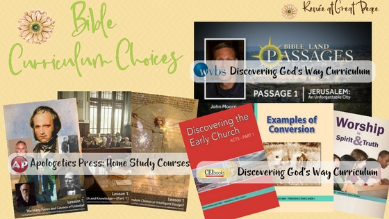 9th Grade Bible Curriculum Choices for Homeschool | Renée at Great Peace #ihsnet