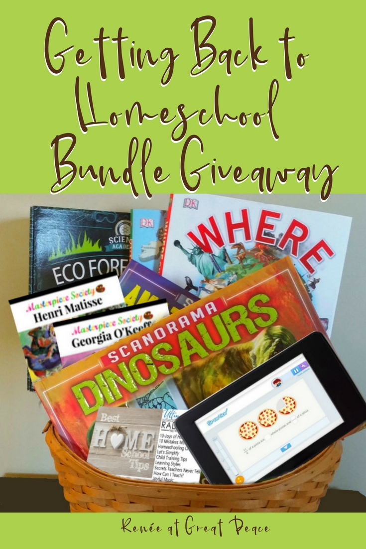 Getting Back to Homeschool Bundle Giveaway | Renée at Great Peace #ihsnet #homeschool
