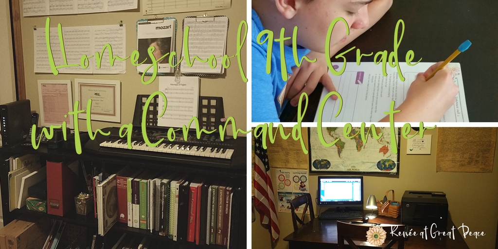How to Organize a Simple Homeschool Command Center | Renée at Great Peace #ihsnet #homeschool