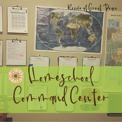 How to Organize a Simple Homeschool Command Center | Renée at Great Peace #ihsnet #homeschool