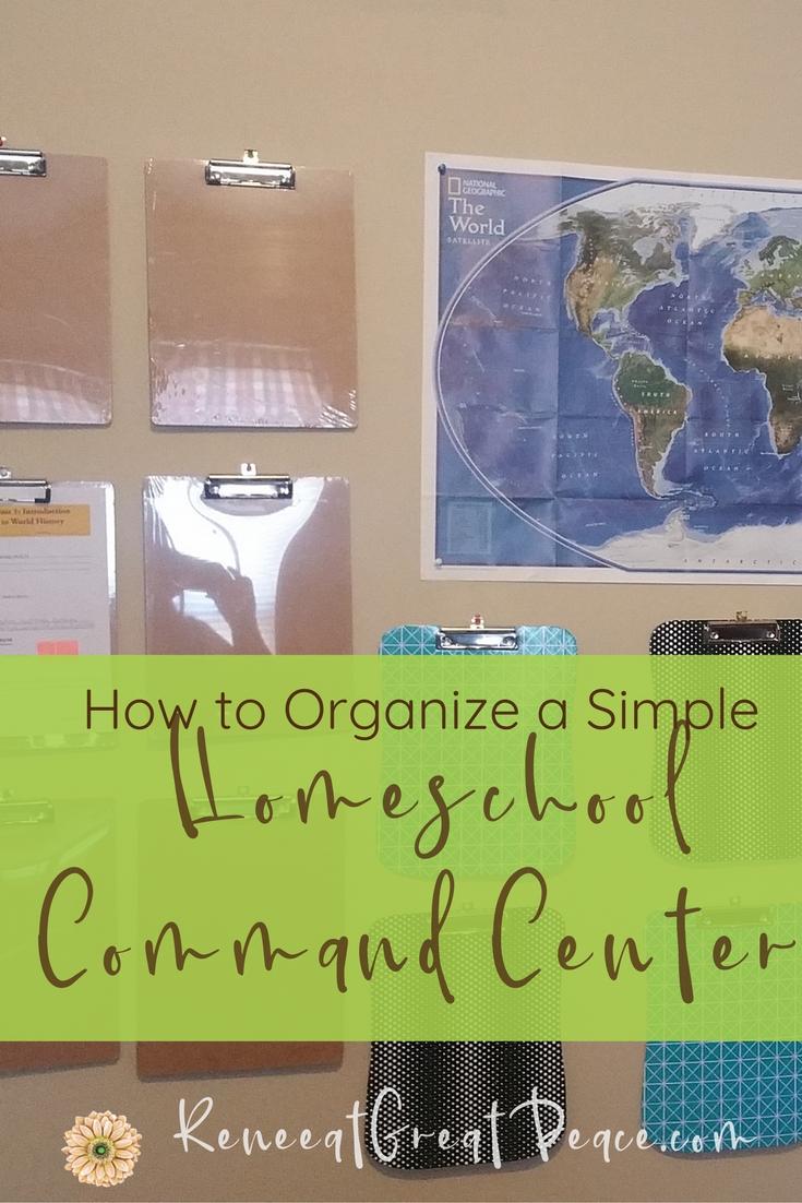 How to Organize a Simple Homeschool Command Center #homeschooling #homeschool #ihsnet