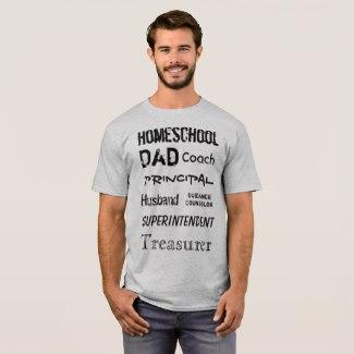 Homeschool Dad Roles Tee | Renée at Great Peace #homeschool #ihsnet