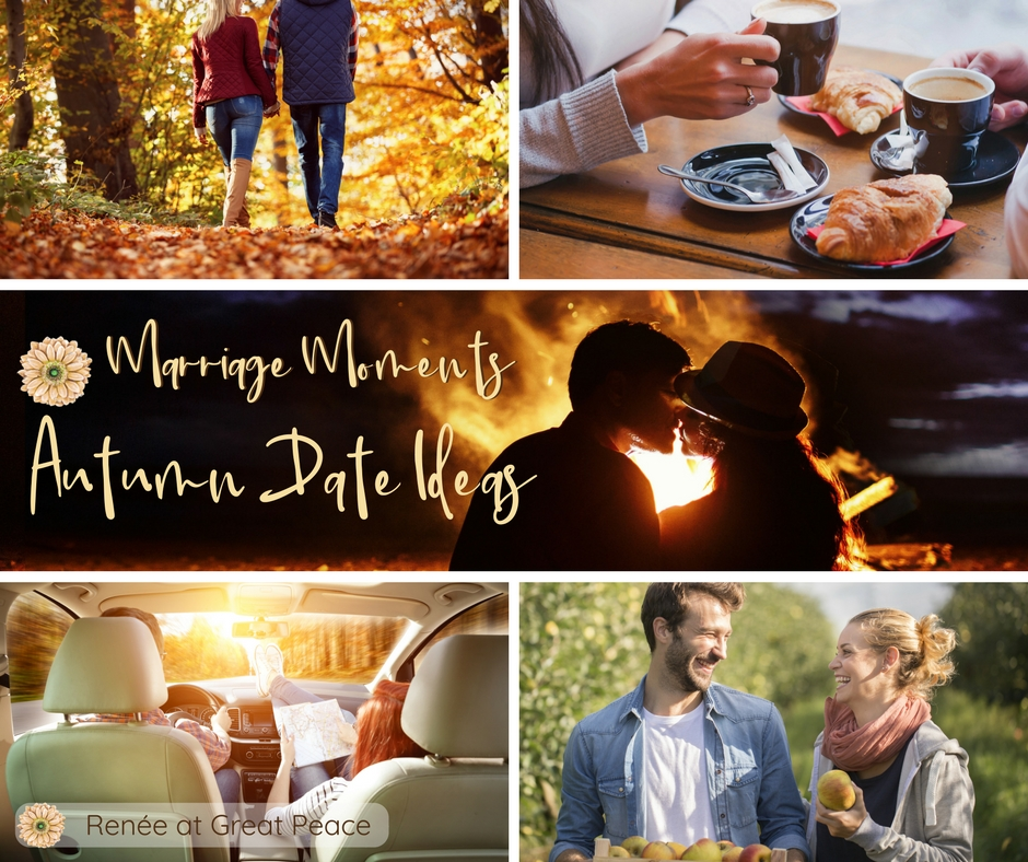 Autumn Date Ideas to Keep the Spark Warm in Your Marriage | Renée at Great Peace #ihsnet #homeschool #moms #marriagemoments