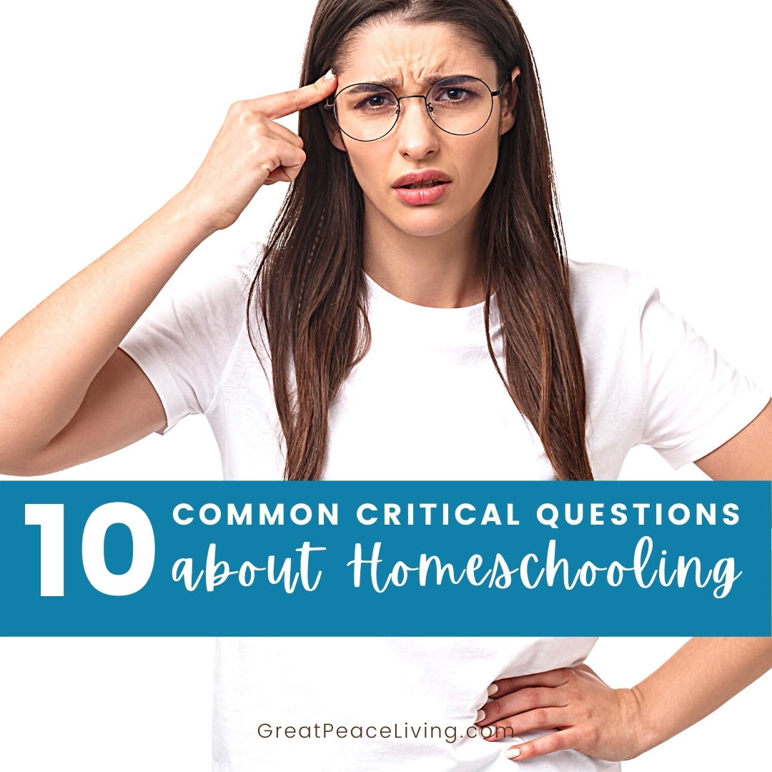 What to Say to the Homeschooling Critics   ReneeatGreatPeace #homeschool #homeschooling #homeschoolmoms #ihsnet