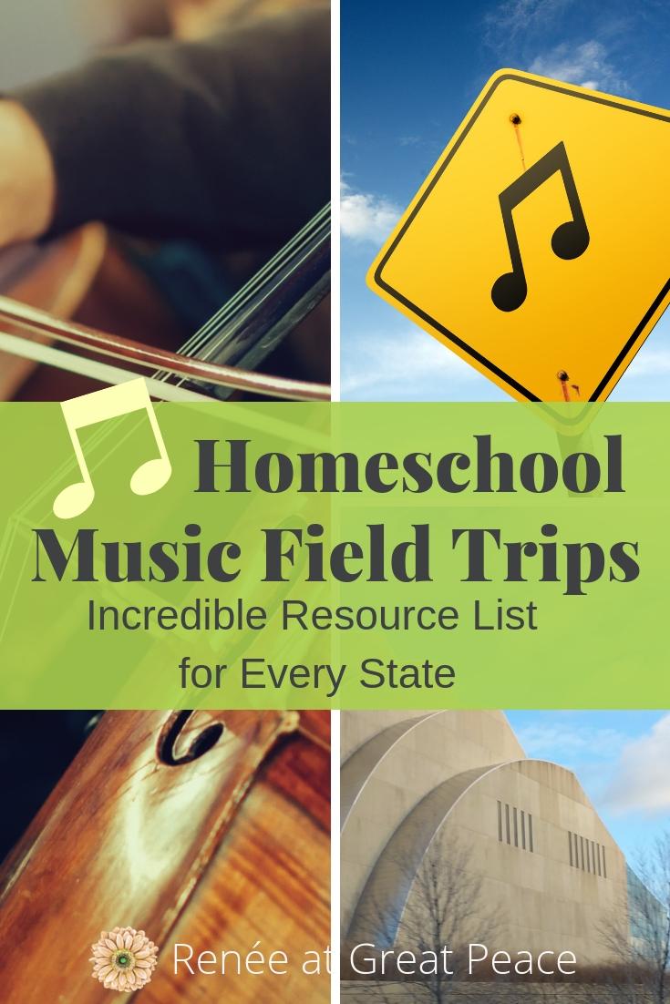 Music Field Trips for Fine Arts Homeschool | Renée at Great Peace #music #muiscappreciation #fieldtrips #homeschool #ihsnet