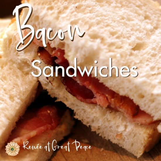 How to Make a BLT Sandwich ON the THM Plan | Renée at Great Peace #mealplanning #TrimHealthyMama