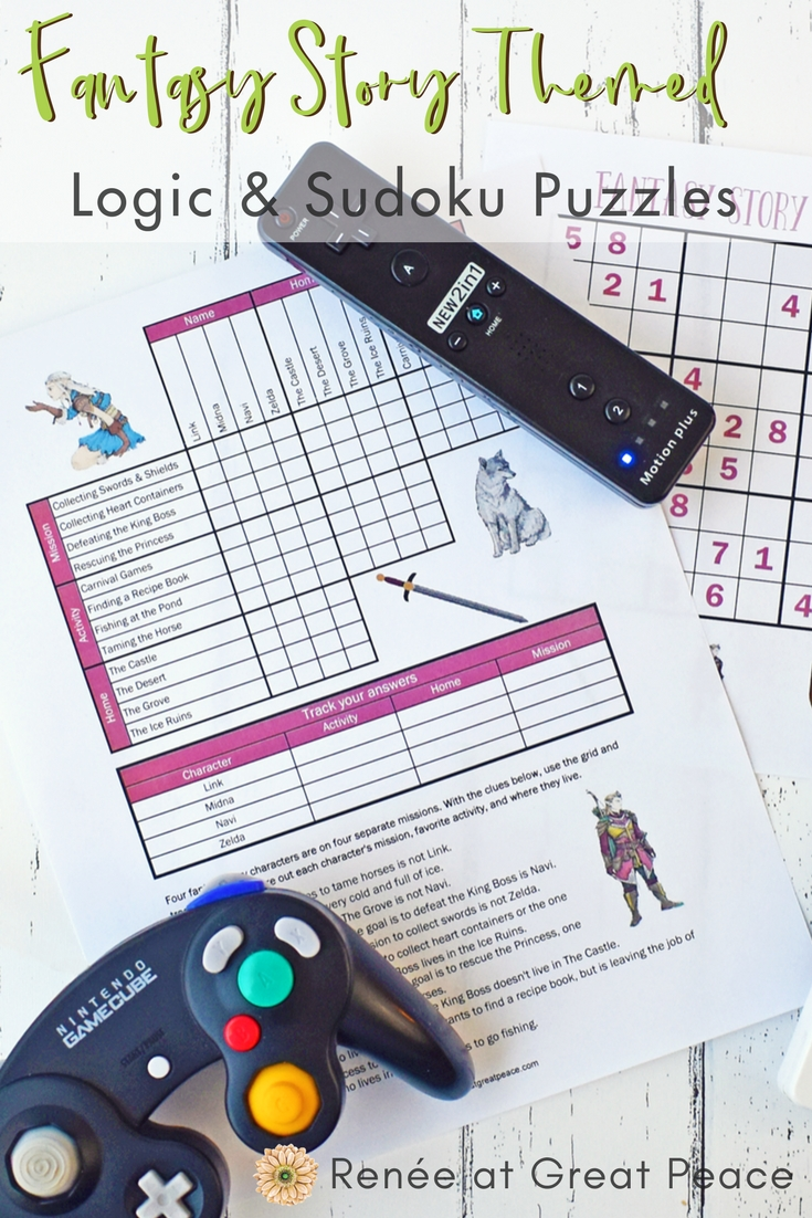 Fantasy Story Logic & Sudoku Puzzles - Get Your Free Printables