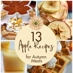 13 Apple Recipes for Autumn Meals | Renée at Great Peace #mealplanning #autumn #fallrecipes