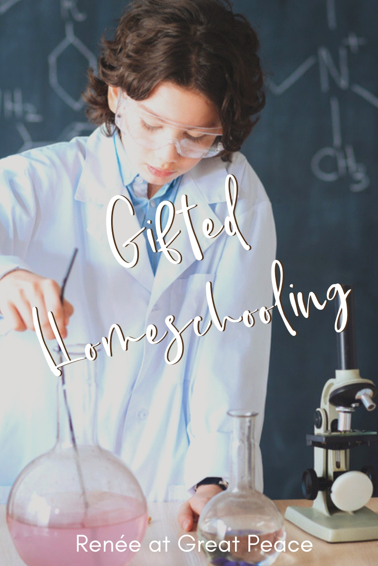 Gifted Homeschooling for the Overwhelmed Mom | Renée at Great Peace 