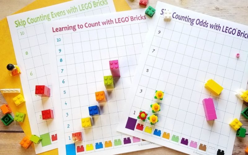 Learning to Count with LEGO Bricks | Renee at Great Peace #freeprintable #LEGOPrintable #LEGOmath #math #homeschoolmath #handsonmath #ihsnet