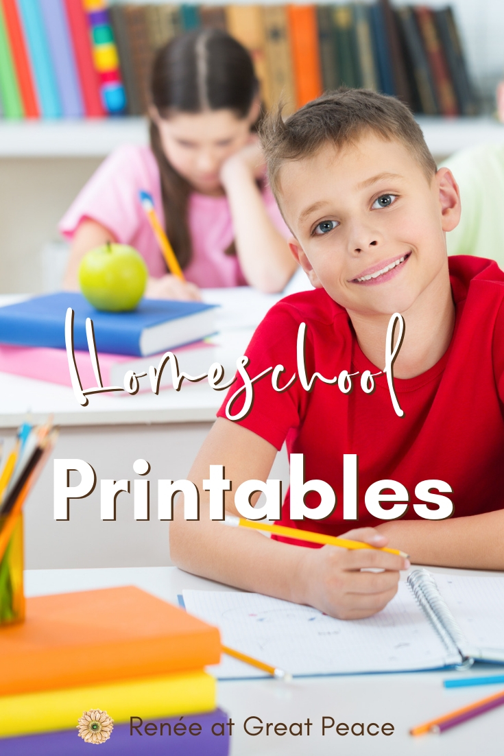 Discover Homeschool Printables that you can download today. | Renée at Great Peace #homeschool #printables #homeschoolmoms #homeschoolers #ihnset
