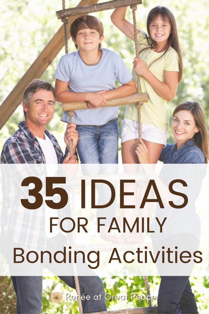Ideas for Family Bonding Activities | Renee at Great Peace #family #familybonding #familybondingactivities #familyideas #familybondingideas #ihenst #homeschool