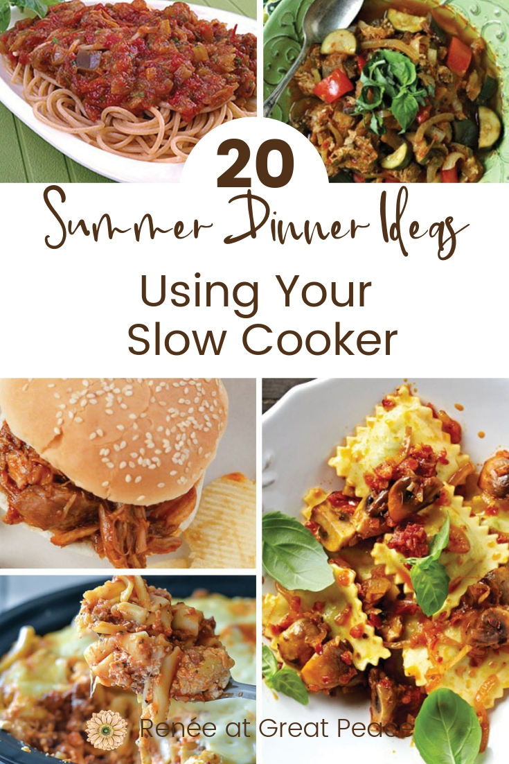 20 Summer Dinner Ideas Using Your Slow Cooker | #mealplanning #summerdinnerideas #summer #dinner #familydinners