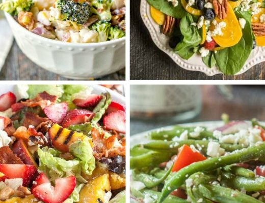 10 Refreshing Salad Summer Dinner Ideas | ReneeatGreatPeace.com #mealplanning #summerdinnerideas #familydinnerideas #whatsfordinner #dinner